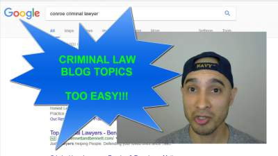 criminal law blog topics
