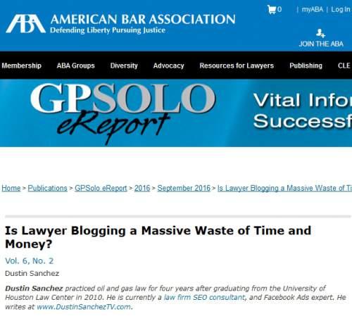 lawyer blogging