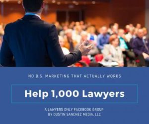 Help 1,000 Lawyers - Lawyers Only Facebook Group
